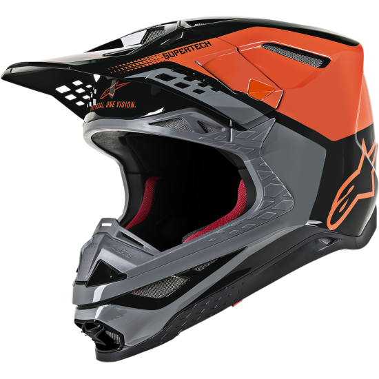 ALPINESTARS Helmet SM8 Triple Orange/Mid Gray/Black Glossy