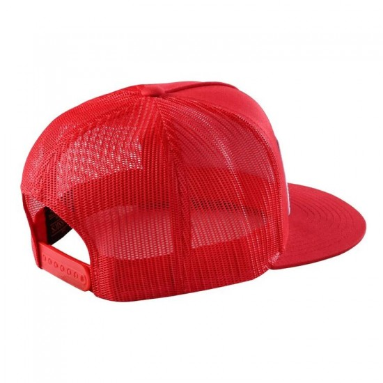 TLD GASGAS Team Snapback Stock Hat; Red OSFA