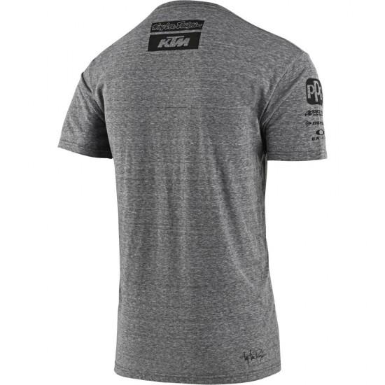 TLD KTM Team Tee Vintage Gray