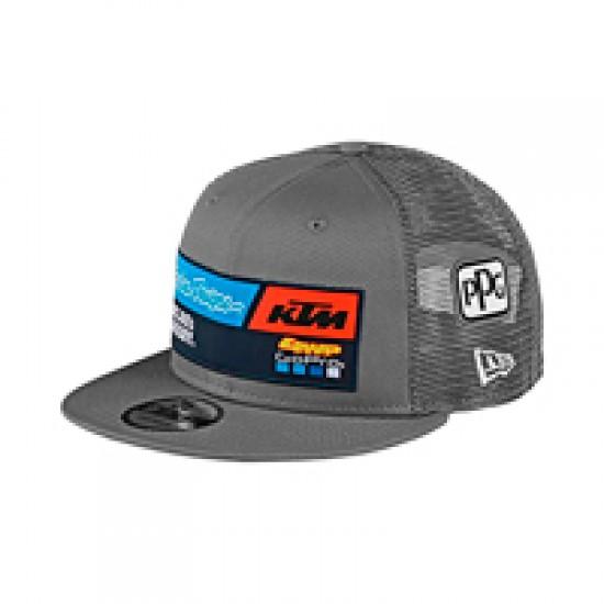 TLD KTM Team Snapback Hat; Gray