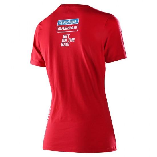TLD GASGAS Team Womens Tee Red